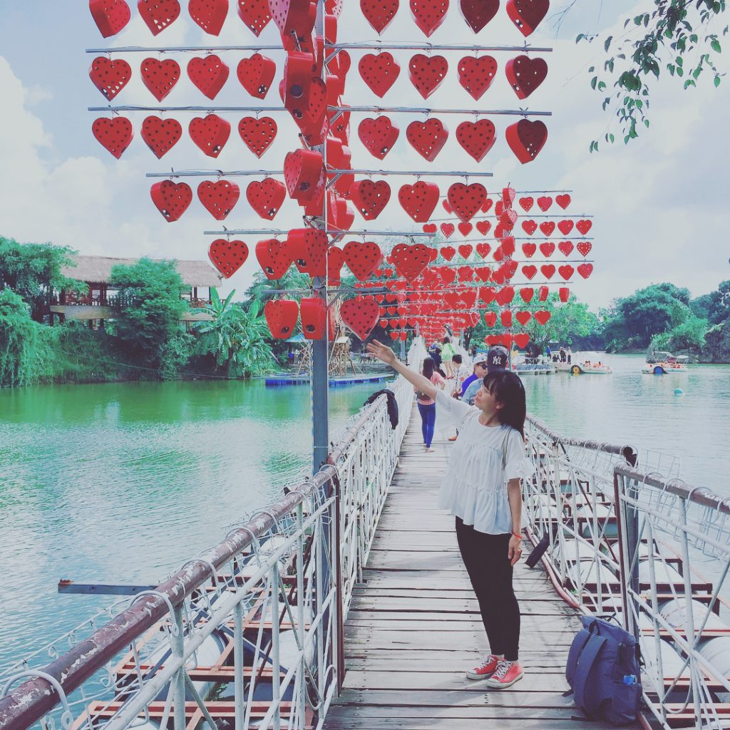 Cây cầu tình yêu ở Đồng Nai