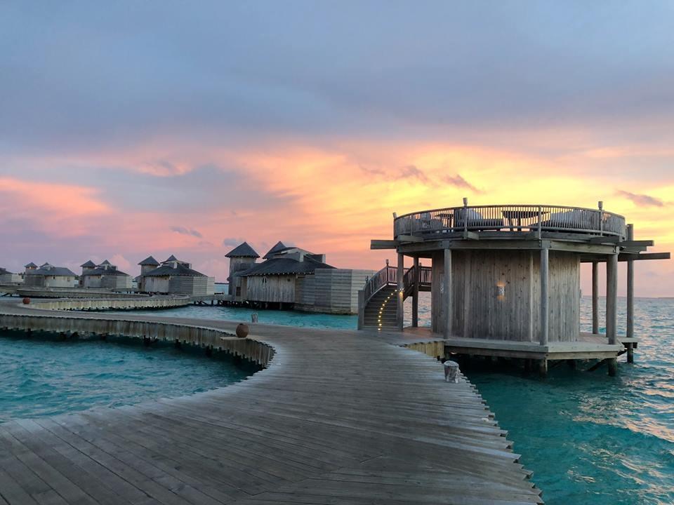 Hoàng hôn trên đảo Maldives