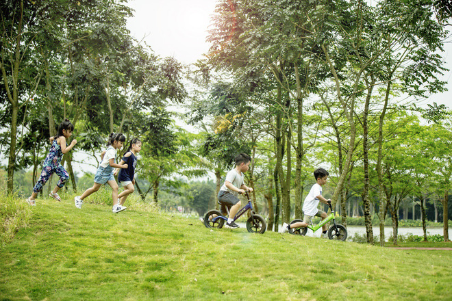 Trẻ em vui chơi trong Ecopark