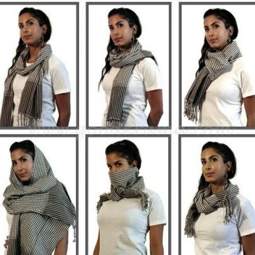 Cách sử dụng khăn rằn Campuchia